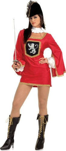 Secret Wishes Women's Miss Musketeer Adult Costume Mini Dress, Multicolor, Small -