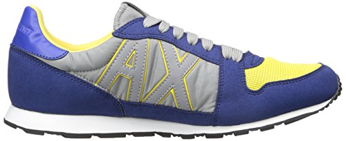 A | X Armani Exchange Mens Retro Running Sneaker Fashion Sneaker Marine / Acido