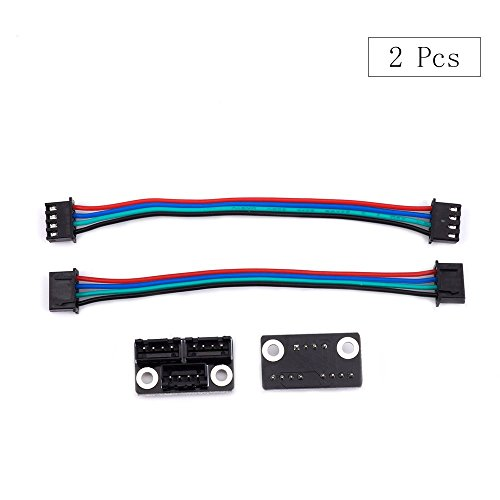 3D Printer Parts and Accessories, FYSETC 3D Printer Stepper Motor Parallel Module with W Cable for Double Z Axis Dual Z Motors Reprap Prusa Lerdge 3D Printer Board - Pack of 2