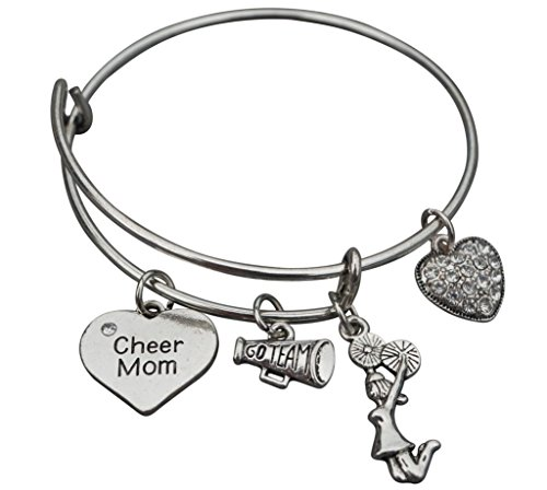 Infinity Collection Cheer Mom Jewelry- Cheer Mom Bracelet - Adjustable Cheer Mom Charm Bracelet- Perfect Cheerleading Mom Gift from Infinity Collection