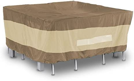 AnyWeather AWPC06 Square Patio Table with Chairs Outdoor Cover