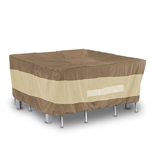(AnyWeather AWPC06 Square Patio Table with Chairs Outdoor Cover)
