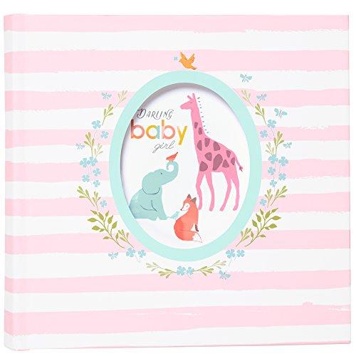 (Carter's Pink Striped Animal Theme Baby Girl Photo Journal Album, 9