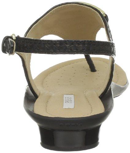 Geox - Sandalias de cuero para mujer Negro (Noir (C9999))