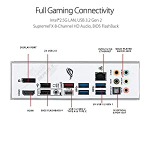 ASUS ROG Strix Z490-A Gaming Z490 LGA 1200(Intel® 10th Gen) ATX White Scheme Gaming Motherboard (12+2 Power Stages, DDR4…