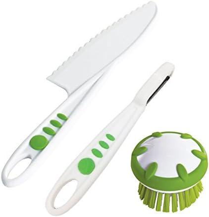 Curious Chef Children's 3-Piece Vegetable Prep Tool Set