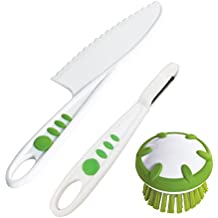 Curious Chef TCC50200 3 Piece Vegetable Prep Tool Set, Child, Green/White