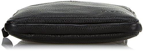 Bugatti Brisbane bolso bandolera piel 22 cm negro