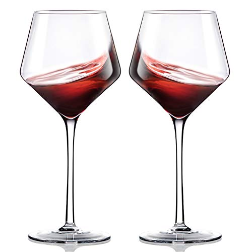 Crystal Wine Glasses Set of 2,Hand Blown Red Wine Glasses-Finest Crystal,Lighter,Ultra-thin For Best Wine Tasting,16 OZ,Perfect Gifts For Anniversary,Birthday (The Best Tasting Red Wine)