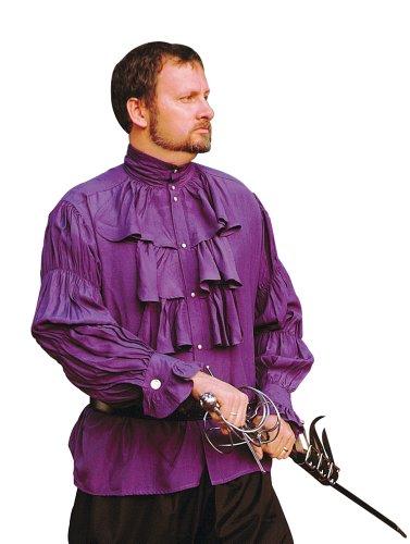 Renaissance Noble's Shirt - PURPLE - X-Large (Period Clothing) (Noble Renaissance Man Costume)