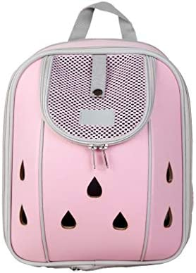 JIANXIN ペットバックパック、ペットケージ、ポータブルバックパック、ペットアウトバックパック、ペットバッグ (色 : Pink, サイズ さいず : L l)