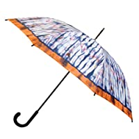 Nicole Miller 48 Inch Fashion Stick Umbrella, Purple Crane Print, One Size