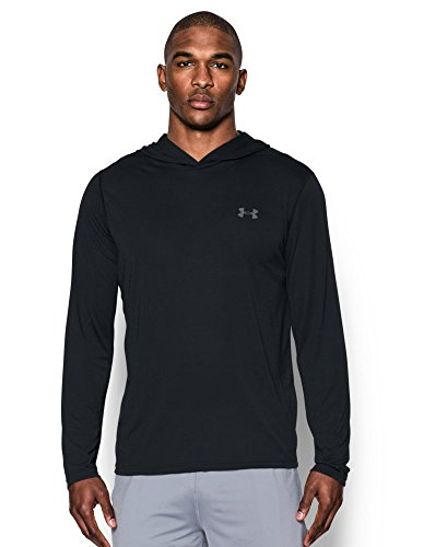 Under Armour Men's Threadborne Siro Hoodie, Black/Graphite, Medium