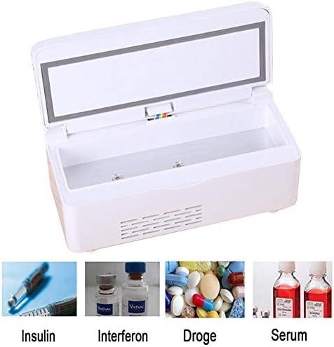 JL Insulin-Kühlschrank 2-25 ° C Insulinkühler Box Hält Diabetiker Medikamente kühl für Auto, Reisen, Zuhause