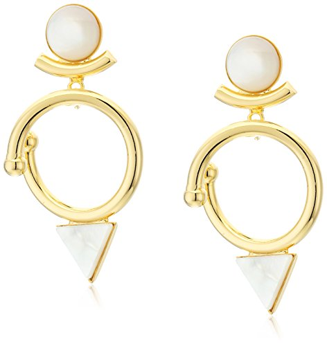 Yochi Ring (Yochi Mother of Pearl Triangle Drop Earrings)