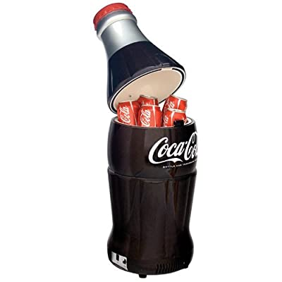Coca Cola BC10-G 15-Can Capacity Bottle-Shaped 12-V Car Fridge