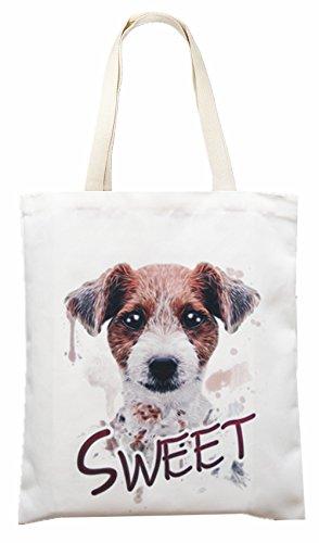 5f5869da3db5d Einkaufstasche Stofftasche Jutetasche Shopping Bag Tragetasche Sweet Hund  A99