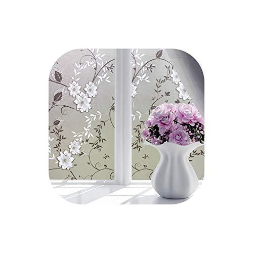 Waterproof Self-Adhesive Film Window Decorative Film Frosted Glass Sliding Door Bathroom Window Stickers Translucent Opaque,2