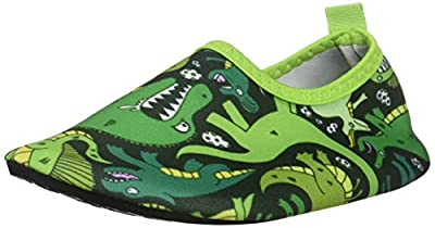 Giotto Kids Swim Water Shoes Quick Dry Non-Slip for Boys & Girls, G015F-Green, 32-33