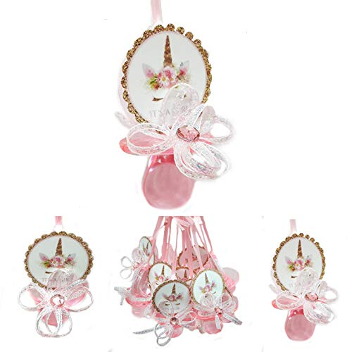 JCHB Gold Unicorn Pacifiers Baby Shower Party, It is a Girl (Pacifier)