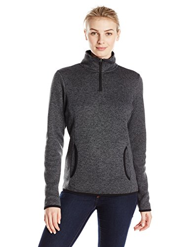Charles River Apparel Women's Heathered Fleece Pullover, Charcoal, - Colorado Pullover Fleece