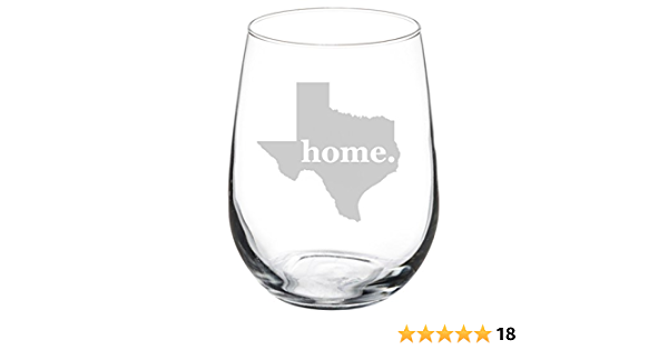 Stemless hand painted wine glass with Texas Blue  Bonnet and Starflowers
