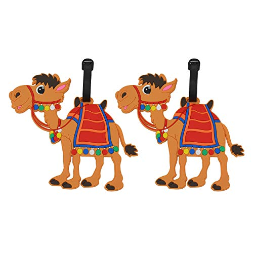 2 Pcs Unique Luggage Tag Camel Shape Cute identify Label for Travel Bag Suitcase by OVOV (Camel)