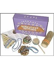 Mystery Mountain Rainforest Rhythms Handmade Musical Fair Trade South American Instruments, Wood, Purple, 6 x 17 x 27 cm