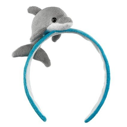 Dolphin Costumes For Kids (Dolphin Headband Costume Plush Stuffed Animal Head Band Hat Halloween)