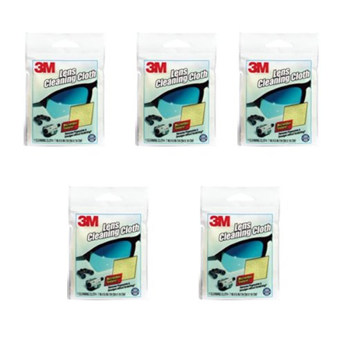 3M Microfiber Lens Cleaning Cloth - Pack of 5