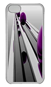 Abstract Purple Sphere Custom iphone 4s Case Cover Polycarbonate Transparent