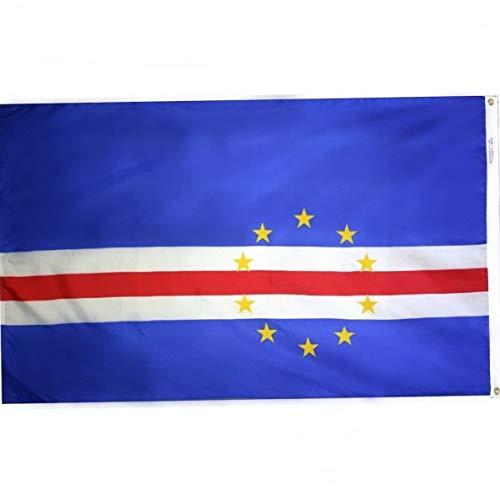 Hebel 3x5 Cape Verde Verdian National Flag 3x5 Banner Brass Grommets Fade Resistant | Model FLG - 908