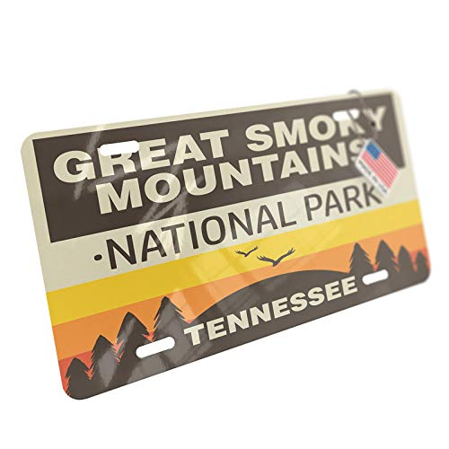 NEONBLOND National Park Great Smoky Mountains Aluminum License Plate
