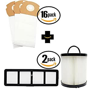 48 Replacement Eureka AS1051A Vacuum Bags, 2 Dust Cup Filter & 2 HEPA Filter - Compatible Eureka AS Vacuum Bag, DCF-21 Filter & EF-6 Filter