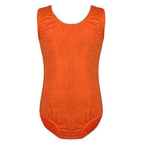 Summer Short Sleeve Swimwear One Piece Swimsuit For Women (Orange) - 6