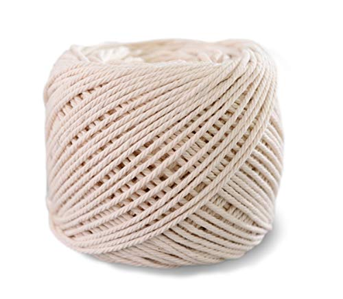 SUNTQ Macrame Cord 4-Strand Twisted 100% Natural Cotton (3mm x 656 Feet) Soft Cotton Rope for Handmade Plant Hanger,Wall Hanging,Crafts,Knitting,Decorative Projects Original Color Cotton String