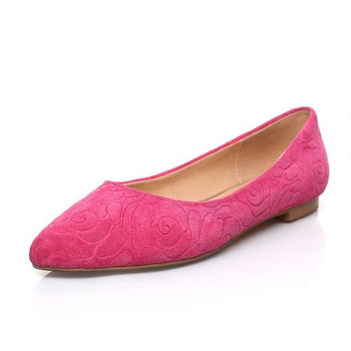 WeiPoot Womens Closed Po2015ted Toe Frosted Sheepsk2015 Micro Fiber Peach, Solid Flats, Peach, Fiber 6.5 B(M) US B00K8JO2Z2 Shoes e4ae37