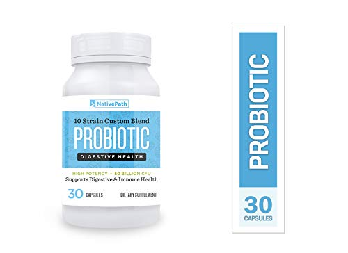 NativePath Daily Probiotic, 10 Strain Custom Blend, High Potency, 50 Billion CFUs, Improves Digestion, Metabolism, and Energy (1)