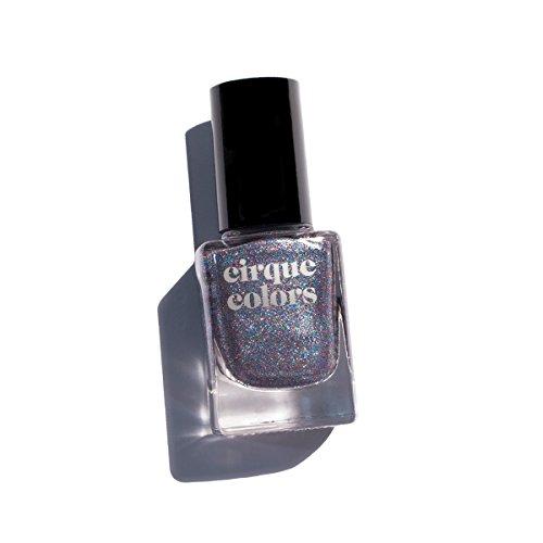 Cirque Colors Metallic Nail Polish - Druzy - Silver Gunmetal - 0.37 fl. oz. (11 ml) - Vegan, Cruelty-Free, Non-Toxic Formula