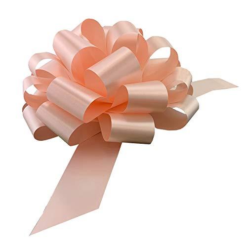Large Peach Ribbon Pull Bows - 9