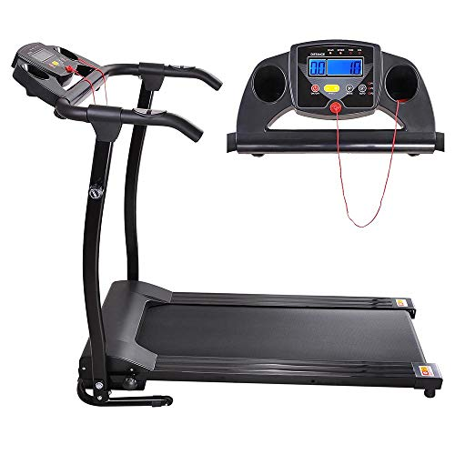 Bei Cheng 1100 Watts Foldable Electric Treadmill, Walking Running ,Jogging Fitness Machine Foldable Design and 2 Wheels for Easy Storing and Rolling Awayfor Home & Gym Cardio Fitness US Delivery