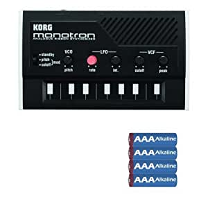 Korg MONOTRON 16-Key Synthesizer with 4 AA Batteries