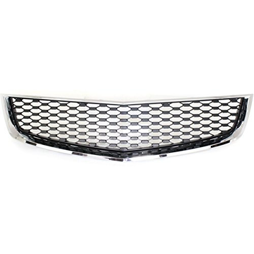Elite7 OE Front Lower Grill Grille CHROME Shell With Black Insert For Chevrolet (Chevrolet Equinox Front Bumper)