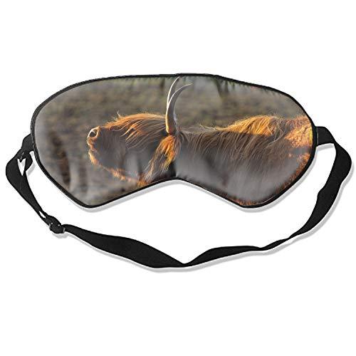 Sun Goat Sleep Eye Masks Cover, Light Blocking Memory Foam Eye Mask Adjustable Strap Sleeping/Shift Work/Naps/Night Blindfold Eyeshade Men Women
