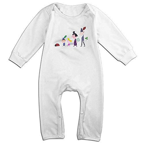 Kids Ben Holly's Little Kingdom Baby Bodysuit Unisex Boys Girls 100% Cotton Long Pants Onesies 6 M (Ben And Jerrys Halloween)