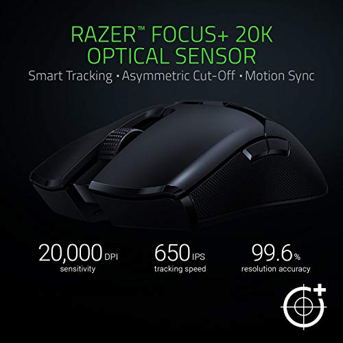 Razer Viper Ultimate Ambidextrous Wireless Gaming Mouse with Dock + Goliathus Chroma Mouse Pad Bundle