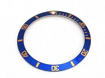 Pieza bisel colocable de repuesto de esfera para relojes Rolex Submariner, en color negro,