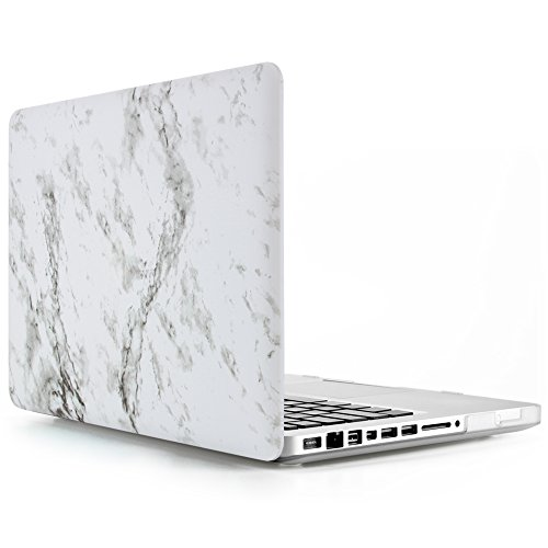 MacBook-Pro-13-inch-Case-GOLP-Plastic-Hard-Case-Shell-Protective-Matte-Solid-Case-With-Keyboard-Cover-With-Screen-Protector-for-Apple-Macbook-Pro-13-Inch---White-Marble