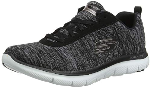 Sneaker Flex Black 0 Gold Skechers Rose Appeal 2 Women's xXwYw75qU