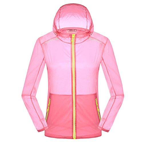 Zhhlaixing Womens Lightweight Waterproof Rainproof Jacket Coat Pink